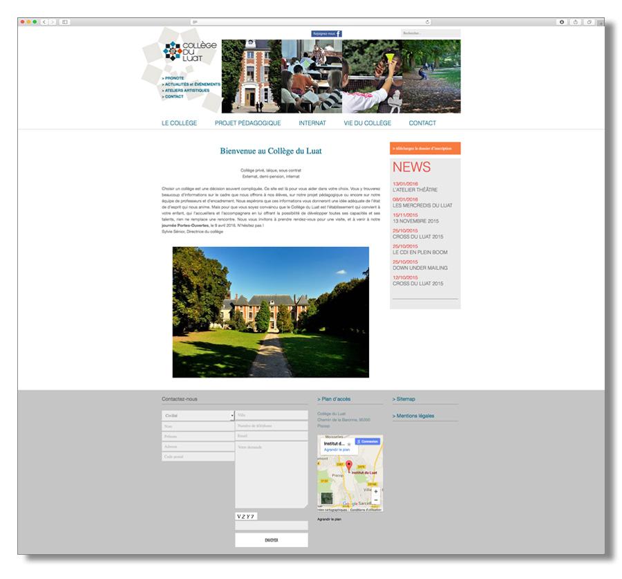 Collège du Luat Site Internet
