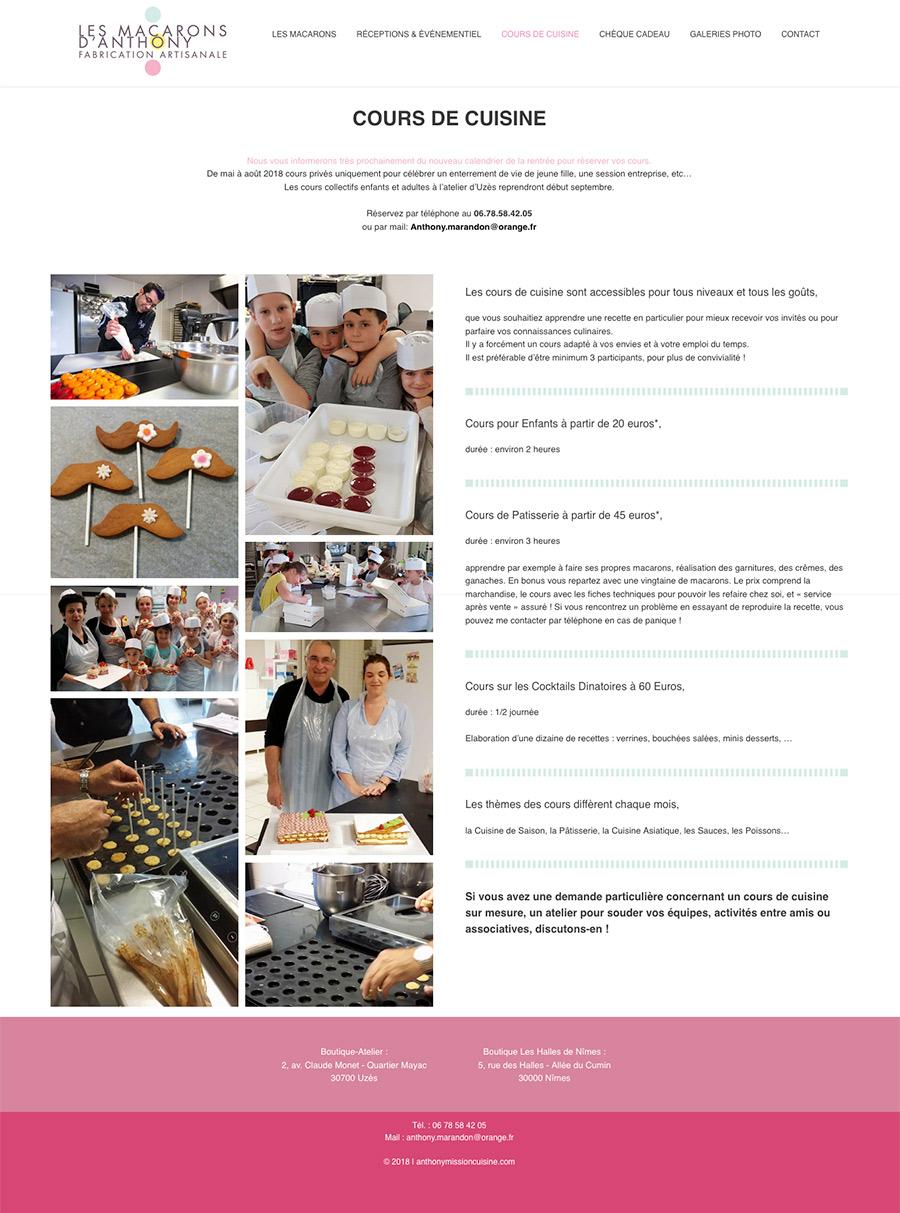 Les Macarons d'Anthony site web